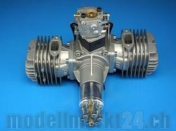DLE DL-Engines 111 Benzin 2-Zylinder Boxermotor mit el. Zü..