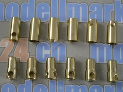 6Paare Bullet-Goldstecker 6.5mm