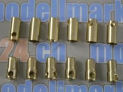 6Paare Bullet-Goldstecker 6.5mm