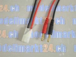 1Stk. Ladekabel T-Plug Tamiya Buchse auf 4.0mm Goldstecker