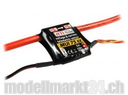 Jeti MUI75EX Spannungs- und Stromsensor 60V/75A für Duplex..
