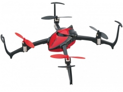 Dromida Verso Inversion Drohne RTF Rot, Quadrocopter