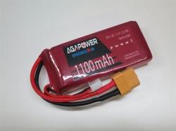 AGA-Power LiPo-Akku 1'100mAh 11,1V 30C 3S1P