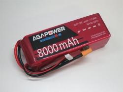 AGA-Power LiPo-Akku 8000mAh 22,2V 30C 6S1P