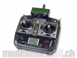 Jeti Hand-Sender DS-6 Mode 2/4 (Gas links) 2.4Ghz mit Jeti..
