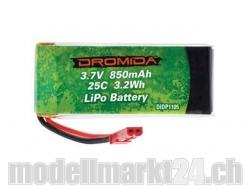 LiPo Akku 1S 3.7V 850mAh 25C zu Vista von Dromida