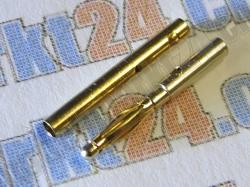 Bullet-Goldstecker 2.0mm 6 Paare