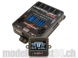 PowerBox Mercury SRS inkl. OLED-Display, Sensorschalter, o..
