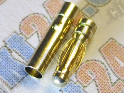 6 Paare Bullet-Goldstecker 3.0mm
