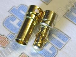 6 Paare Bullet-Goldstecker 3.5mm