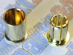 4Paare Bullet-Goldstecker 6.0mm