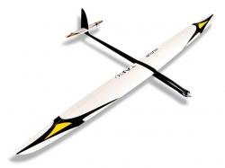 RCRCM E-Tabu Spw. 2.976m CFK+(Carbon) Weiss/Schwarz mit Sc..