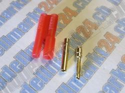 Bullet-Goldstecker 2.0mm mit Gehäuse 2 Paare