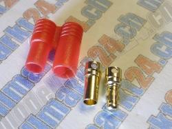 Bullet-Goldstecker 3.5mm mit Gehäuse 6 Paare
