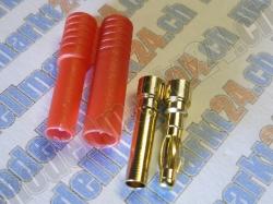 Bullet-Goldstecker 4.0mm mit Gehäuse 4 Paare