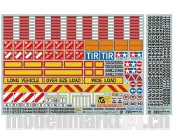 Warndekor für LKW's/Auflieger 1:14 von Tamiya