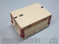 SBB-Palette mit Rahmen und Deckel 1:14 aus Holz, Handgefer..