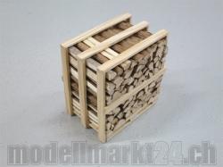 Holz-Spälten 1Ster auf SBB-Palette 1:14 Handgefertigt