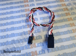 2Stk.Servoverlängerungskabel Robbe/Futaba 15cm verdrillt