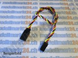 2Stk.Servoverlängerungskabel Graupner/JR 15cm verdrillt