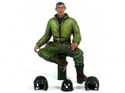 """Figur """"2nd Lieutenant G.Clark"""" -sitzend 1/16 Figuren von W.."""
