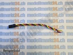 2Stk.Servokabel Graupner/JR 25cm verdrillt, Stecker