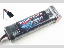 Rocket 2 NiMh-Akku 5100mAh 7Zellen (8.4V) mit Traxxas Stec..