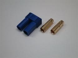 EC5 Goldstecker 5.0mm Buchse/Female mit Gehäuse 6Stk.