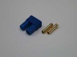 EC2 Goldstecker 2.0mm Buchse/Female mit Gehäuse 6Stk.