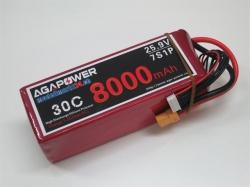 AGA-Power LiPo-Akku 8000mAh 25,9V 30C 7S1P