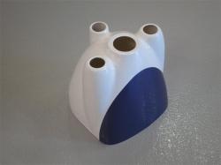 Motorhaube Edge 540 V3 35cc Weiss/Violett (D) von AeroplusRC