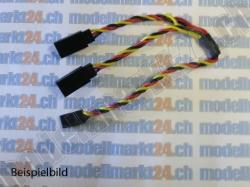 1Stk. Y-Kabel Graupner/JR 15cm verdrillt