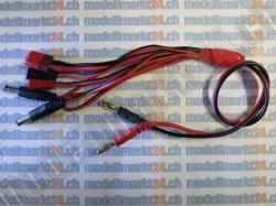 1Stk. Ladekabel Universal mit T-Plug/Futaba/JST/RX/TX/extra