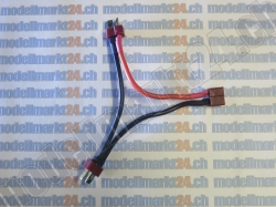 Y-Kabel 2 x T-Plug Stecker in Serie auf T-Plug Buchse 1Stk.