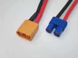 Adapterkabel XT60 Stecker auf EC3 Buchse (2Stk.)