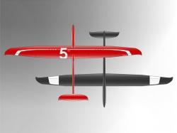 PCM Erwin 2.045m Rot/Weiss ARF Seglerversion lackiert (Fin..