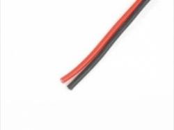 Silikonkabel 0.35mm2 22AWG 120Litzen rot/schwarz je 1m