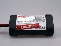 Emcotec 2S LiIon-Akku 3000mAh Compact Black Edition 15A mi..
