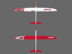 RCRCM E-Jarvis V-LW CFK+ 2.55m Weiss/Rot mit Schutztasche,..