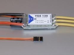 YGE 120A LV Regler Brushless ESC mit BEC 5.7/7.4/8.0V/8A