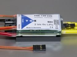 YGE 120A LVK Regler Brushless ESC mit BEC 5.7/7.4/8.0V/8A ..