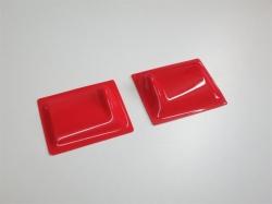 Servoabdeckungen 60x50 L/R Rot zu RCRCM Modellen