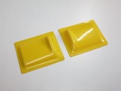 Servoabdeckungen 60x50 L/R Gelb zu RCRCM Modellen