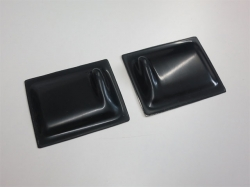Servoabdeckungen 60x50 L/R Schwarz zu RCRCM Modellen