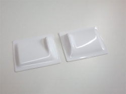 Servoabdeckungen 60x50 L/R Weiss zu RCRCM Modellen