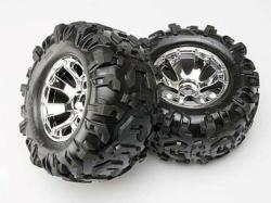 Radsatz (Reifen und Felgen, 2Stk) Summit 1:10 von Traxxas
