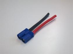 EC3 Stecker mit 5cm Silikon-Kabel 14 AWG (2Stk), Reglerseite