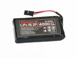 Senderakku LiPo 4000 mAh 3.7V 1S2P Graupner