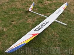 RCRCM Toba F3B Spw.3,085m GFK Weiss/Rot/Gelb/Blau mit Schu..