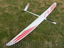 RCRCM E-PredatorIII Spw.2,96m CFK+ Weiss/Rot m. Schutztasc..